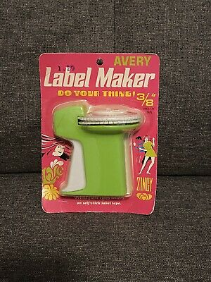 Vintage Green Avery Label Maker 38 New In Groovy Packaging