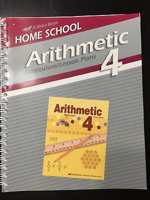 Used, Arithmetic 4 Curriculum/Lesson Plans Abeka #143618 for sale  Cleveland