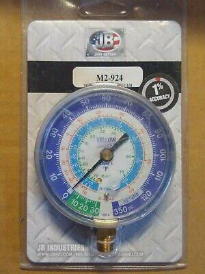Jb Industries M2-924 Gauge3-18 In Dia Low Side500 Psi Hvac Manifold Gauge