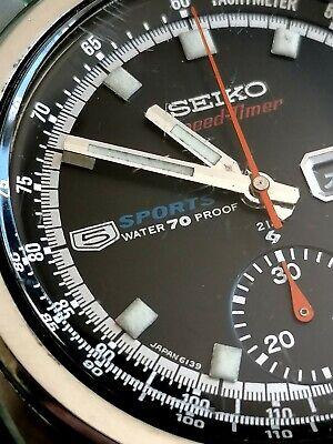 Seiko 6139-6010 - Vintage 1969 JDM Speedtimer black dial
