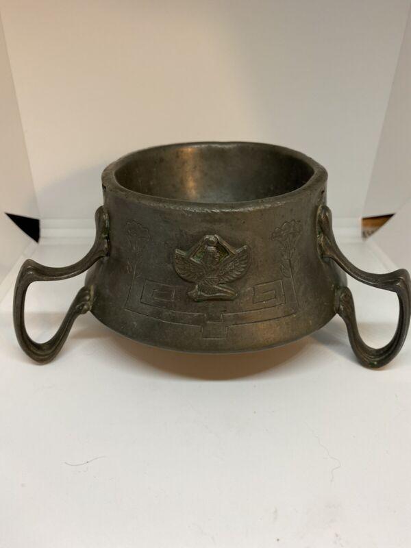 Vintage Benedict Karnak Brass Egyptian Revival Goddess Isis Bowl