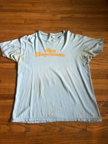 RARE vintage 70s THE HEPTONES night food T-SHIRT island records reggae