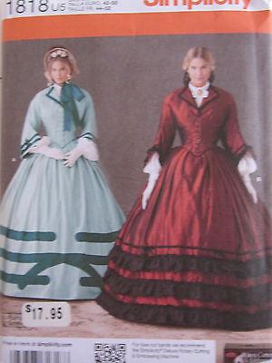 Simplicity 1818 Civil War Era Dress Schewe PATTERN Sizes 16 18 20 22 24 UNCUT