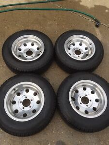 Eagle alloy rims with wintertrax tires