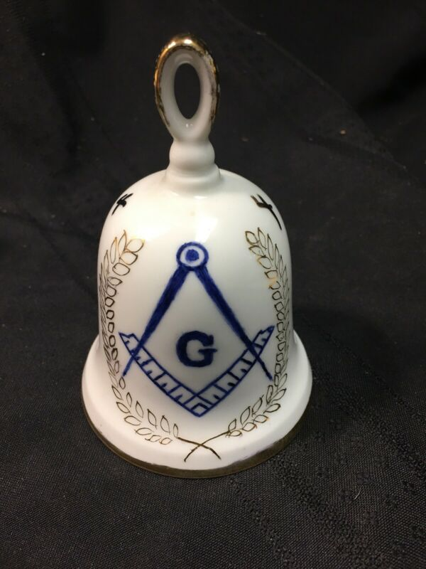 FREEMASON Ceramic Bell Lodge 451 Annual Ladies Night 1985 LODGE  Ruth N Boucker