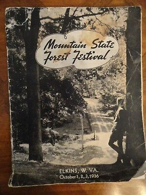 Mountain State Forest Festival 7th Annual 1936 Program - Elkins WV