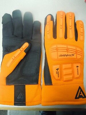 Ansell 97-210 Activarmr Work Rigger Gloves Impact Protection Waterproof Sz.lg10