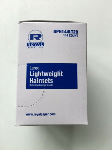 Royal Lightweight  Hairnet Black 144-Pack, Large RPH144LT28