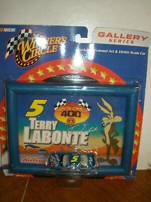 New Terry Labonte Kelloggs Monte Carlo Winners Circle Picture Frame With Car