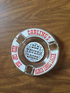 Vintage Carlings/Red Cap Glass ashtray