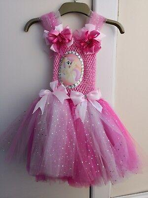 MLP My Little Pony Tutu Dress, Handmade Fancy Dress, Birthday Costume New ()
