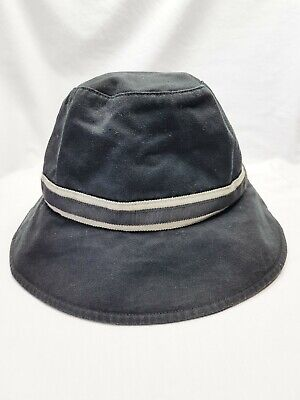 PAUL SMITH unisex black bucket hat with signature silk coloured swirl lining
