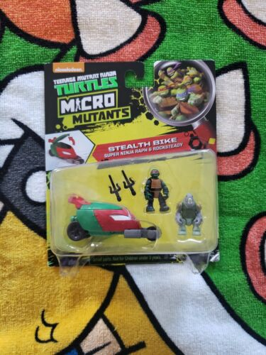 TMNT Micro Mutants 2016 Stealth Bike Ninja Raph Rocksteady Sealed New  - $25.99