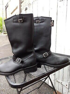 DOUBLE -H BK Tall Boots Leather ST Engineer Motorcycle Made in USA 13 NEW IN BOX
