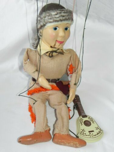 1955 Vintage Peter Puppet Davy Crockett Marionette Original Guitar Axe Hatchet