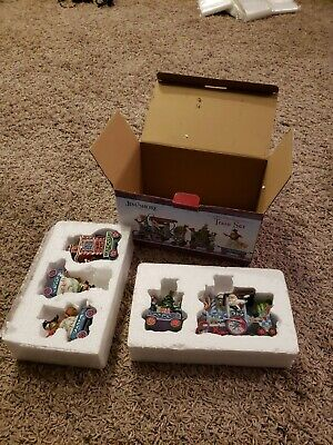 Jim Shore The North Star Holiday Express 5 Piece Mini Christmas Train Set READ