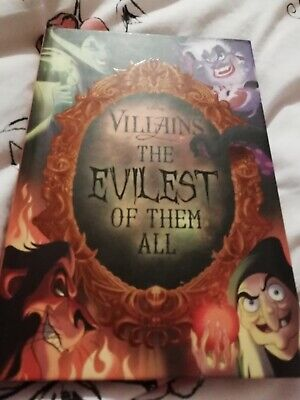 DISNEY VILLAINS THE EVILEST OF THEM ALL LIFT THE FLAP BOOK FREE P/P