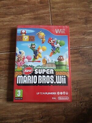 New Super Mario Bros Nintendo Wii game PAL WITH MANUAL