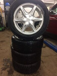225/50 r16 tires on rims. Set of 4