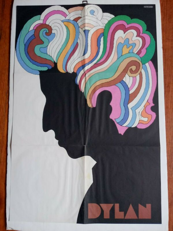Bob Dylan Milton Glaser Vintage Poster