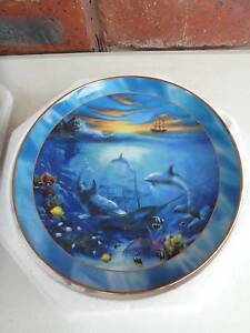 Franklin Mint Collector Plates- Dolphins & Trout Corio Geelong City Preview
