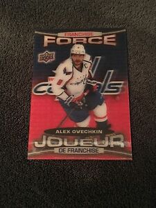 Ovechkin franchise force 2016-17 Tim Hortons hockey card
