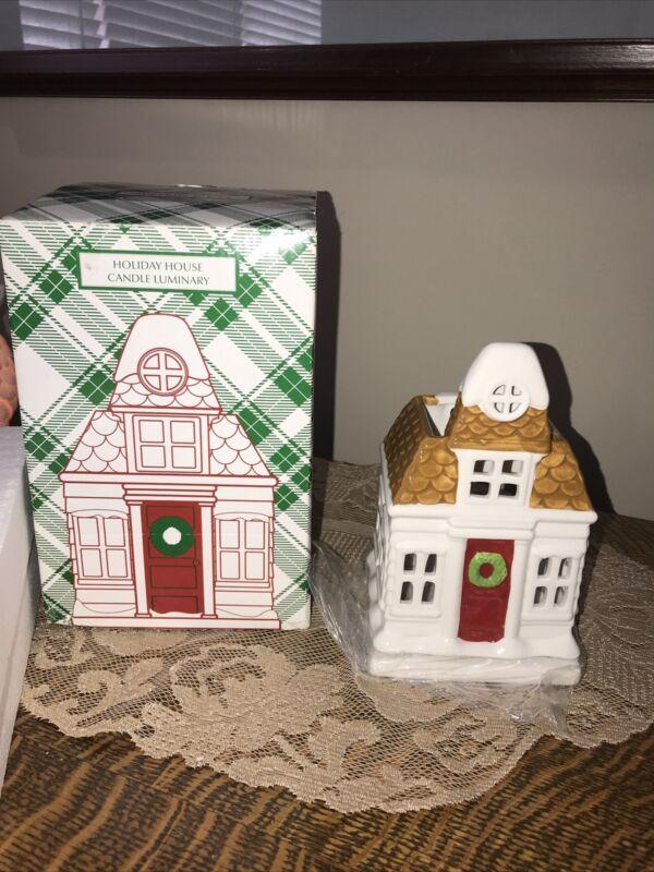 NEW Bath Body Works Slatkin & Co. Holiday House Candle Luminary Styro &  Box