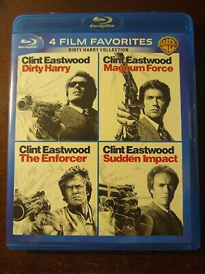 Dirty Harry / Magnum Force / The Enforcer / Sudden Impact (Blu-Ray) 4-Films