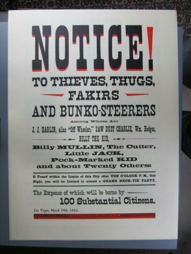 Notice to Thieves, Thugs, Fakirs..., Poster Reproduction, Morgan Press