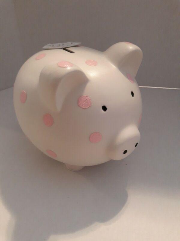 Pink Polka Dot Piggy Bank                                                  Large