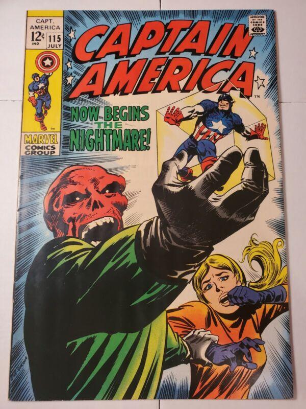 Captain America 115 (1969) Silver Age