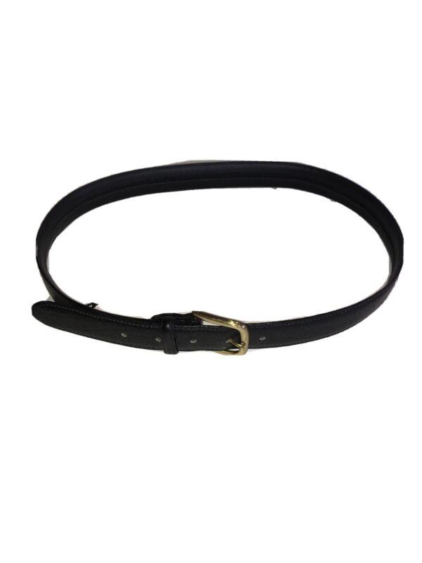 L L Bean Leather Belt Hidden Zipper $ Money Pouch Leather Travel Belt Black 34