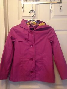 Girls size 10 Gap pink spring rain coat