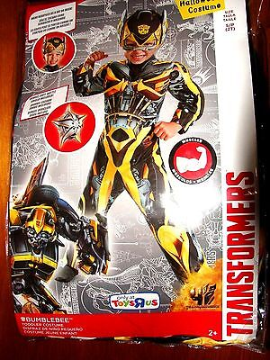 NEW TRANSFORMERS BUMBLEBEE MUSCLE HALLOWEEN COSTUME TODDLER BOYS SIZE 2T NWT - Bumblebee Transforming Halloween Costume