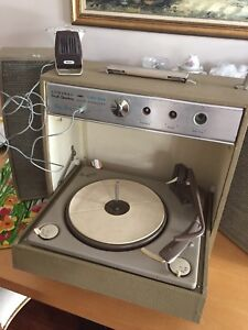 Vintage admiral suitcase record player
