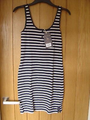 Jack Wills Shuckburgh Striped Jersey Dress Navy White Size 8 RRP £34.50 (Ref Z) for sale  Shipping to Ireland