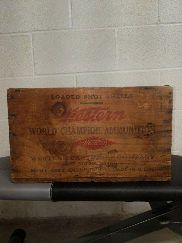 Winchester western super X wooden ammo box