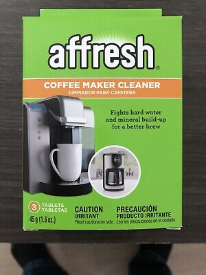 3 Tablets Pack Affresh W1035505 Coffeemaker Cleaner Powerful Clean EPA-Certified