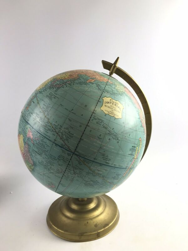 Vintage Crams Imperial 12inch World Globe- 8123