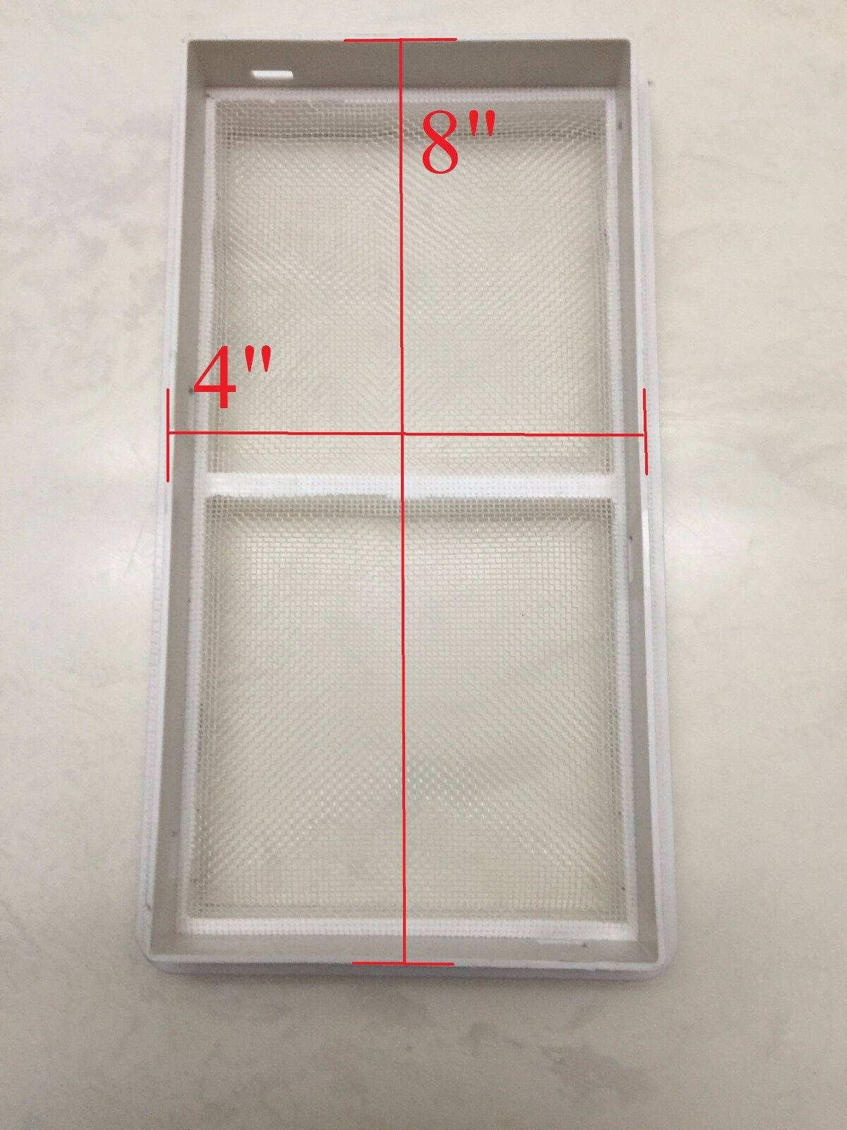 """8""""x4"""" Screen / Filter for Portable Air Conditioner, Exhaust"""