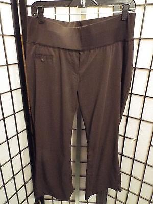 Women's Liz Lange Maternity Brown Capri Cropped Dress Pants Slacks Size 8