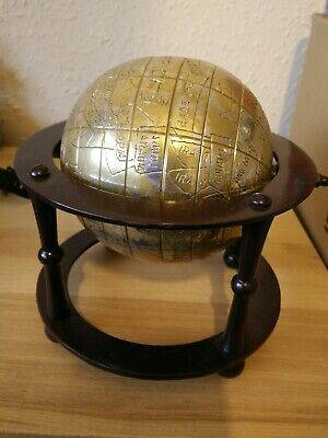 Metal World Globe Ornament vintage design rare