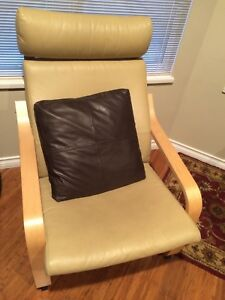 Chair Ikea Poang Tan Leather Two $100 each