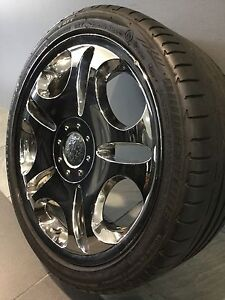"LOWEN HART LUXURY LX CHROME 18"" ALLOY WHEELS AND TYRES Carramar Fairfield Area Preview"
