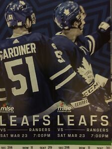 Toronto Maple Leafs vs. New York Rangers - Sat. Mar. 23