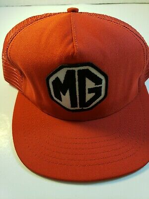 Morris Garages Trucker Hat! Red! MG! Vintage!](Mg Hats)