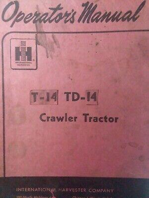 Ih International Td-14 T-14 Ud Diesel Gas Crawler Tractor Owner Service Manual