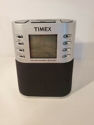 Timex T308S LCD Digital AM FM Dual Alarm Clock Radio Preset Nature Sounds K1
