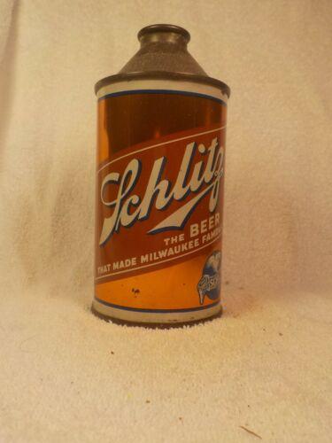 SCHLITZ  CONE TOP OLD BEER CAN
