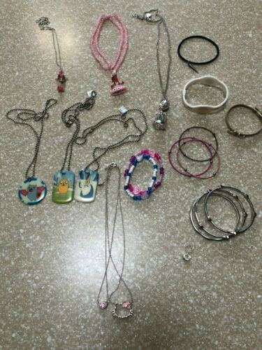 Lot of Girls Costume Jewerly, Hello Kitty, Finn and Jake, Bracelets, and More